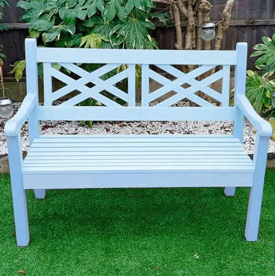 Salcombe 2 Seater Zero Maintenance Bench - Blue: £399.99!