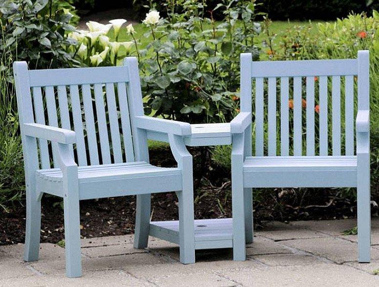 Seaton Zero Maintenance Love Seat - Blue: £599.99!