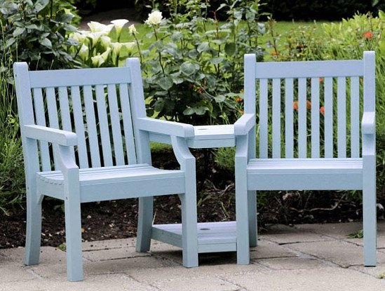 Seaton Zero Maintenance Love Seat - Blue: £599.99!
