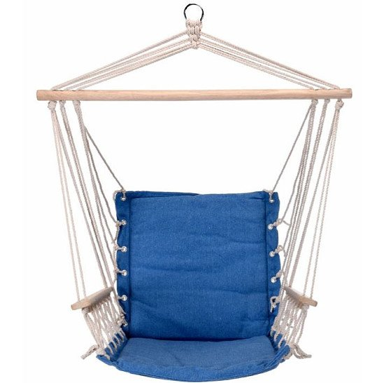 Hanging Hammock Chair - Solid Blue: £49.99!