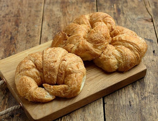 BEST SERVED WARM - Croissants, all butter, Organic, Authentic Bread Co. (250g, pack of 3)