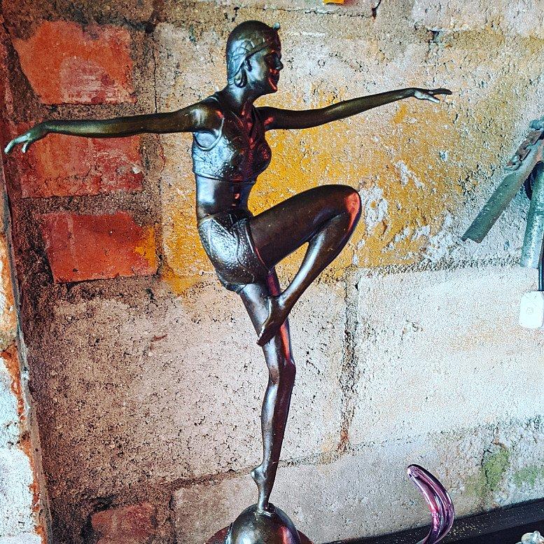 Art Deco french bronze marked J Phillip