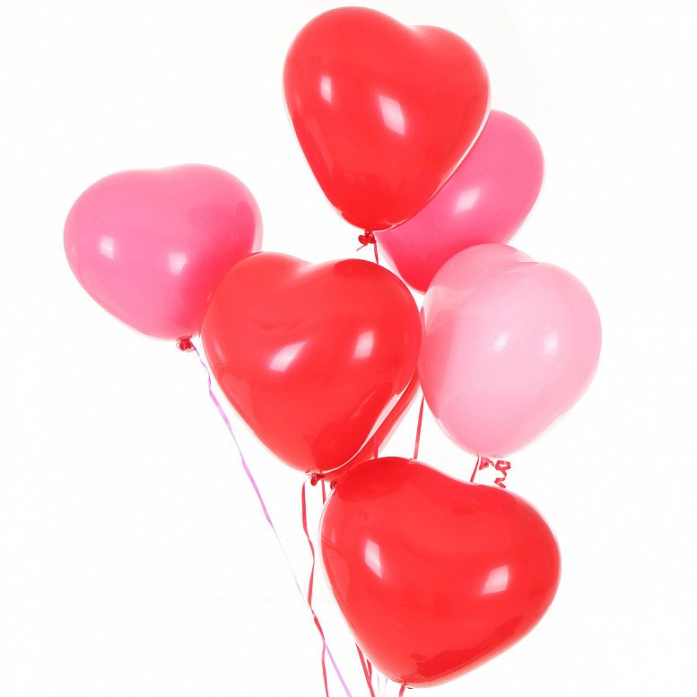 Coming Up: Plastic Free July - Biodegradable Balloons: Pink/Red/White Heart (10 pack)