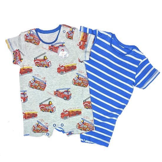 Baby Boys 2 Pack Summer Rompers