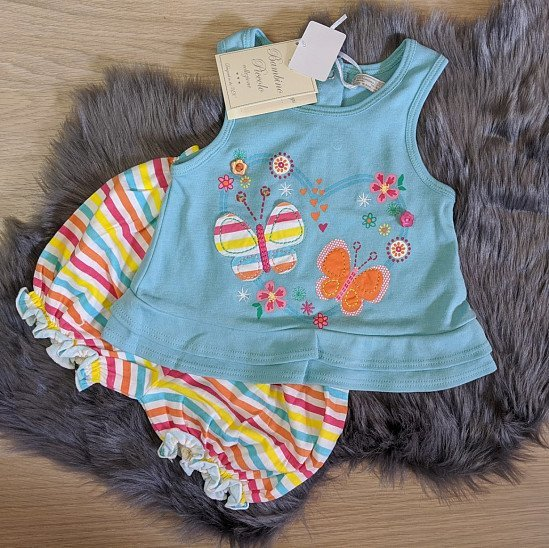 2 piece summer vest and shorts set baby girl