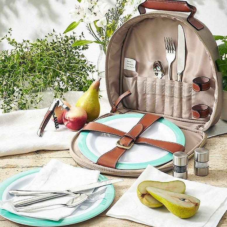 National Picnic Month in July: Fortnum's 2 Person Canvas Picnic Carry All - £85.00!