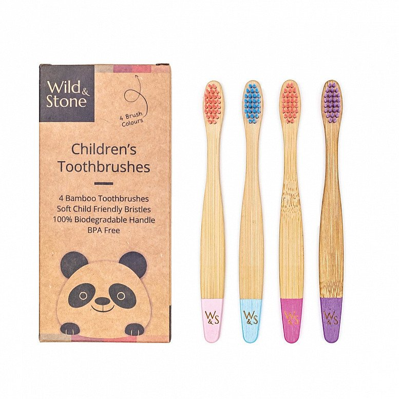 Plastic Free July - BAMBOO TOOTHBRUSH, CHILDREN'S, SOFT BRISTLES, CANDY COLOUR: £5.99!