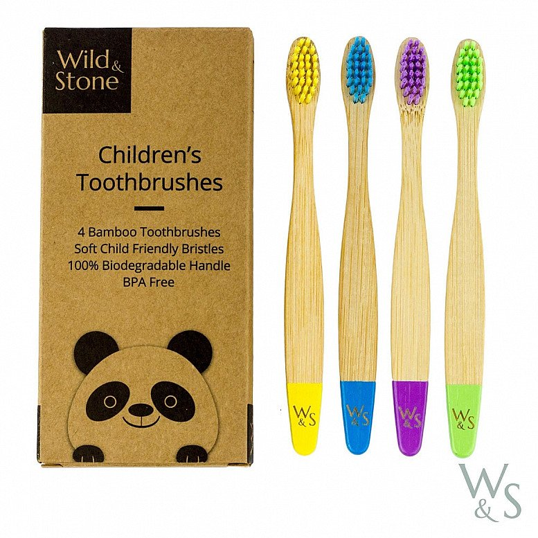 Plastic Free July - BAMBOO TOOTHBRUSH, CHILDREN'S, SOFT BRISTLES, FOUR COLOUR: £5.99!