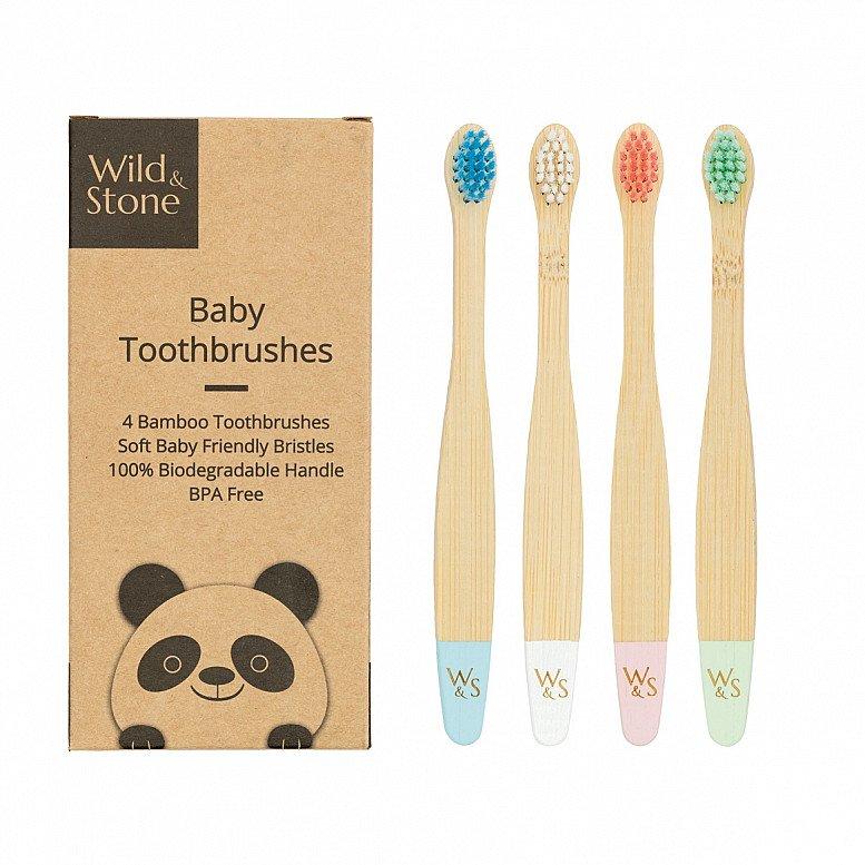 Plastic Free July - BAMBOO TOOTHBRUSH, BABY, SOFT BRISTLES: £7.99!