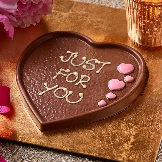 3 FOR £20.00 - Chocolate Heart Plaque (100g): £8.00!
