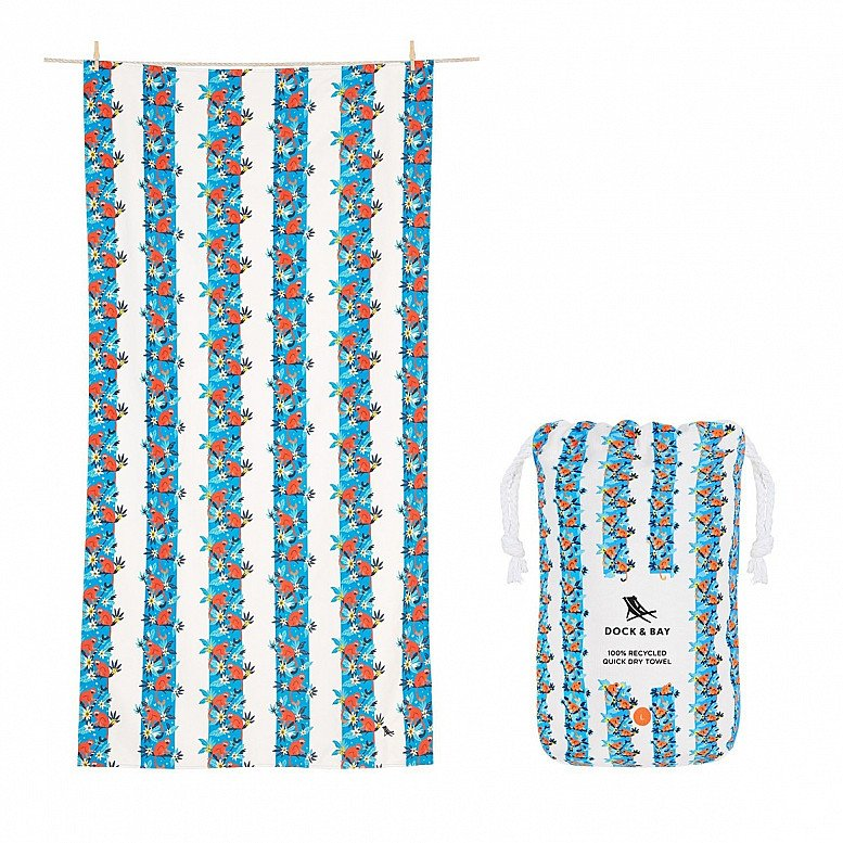 In celebration of Plastic Free July - QUICK DRY BEACH TOWEL - JUNGLE COLLECTION: £21.00!