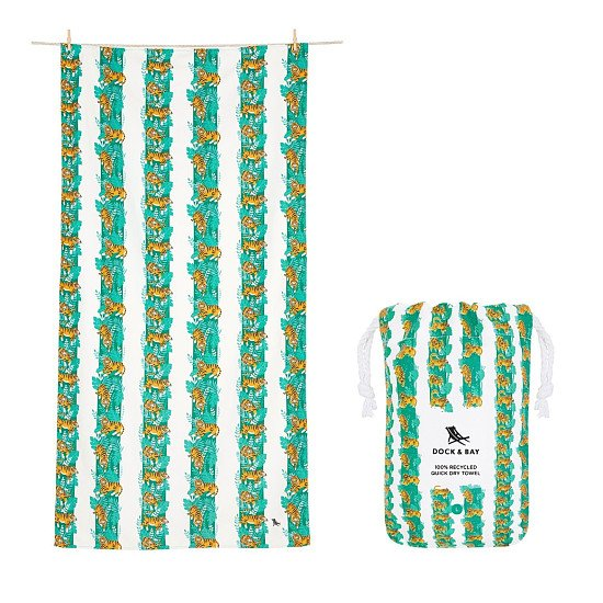 In celebration of Plastic Free July: QUICK DRY BEACH TOWEL - JUNGLE COLLECTION: £21.00!