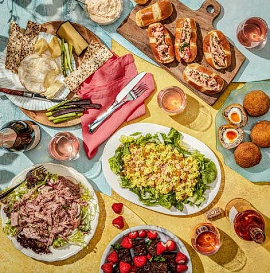 In celebration of National Picnic Month, show fresh picnics!