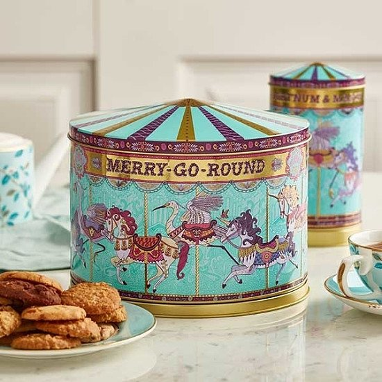 NEW - Merry Go Round Musical Biscuit Tin, 500g: £25.00!