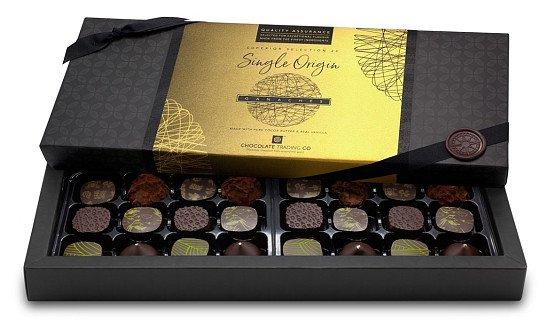 National Chocolate Day - Superior Selection, 24 Single Origin Chocolate Ganaches Gift Box