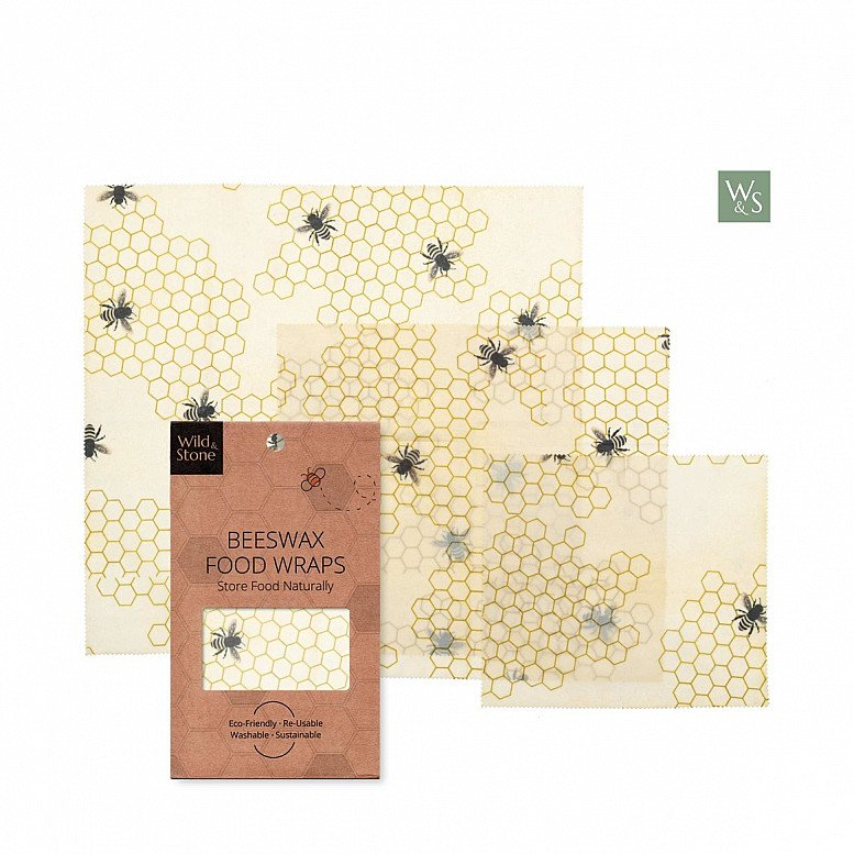 BEESWAX FOOD WRAPS - ORGANIC & REUSABLE: £9.99!