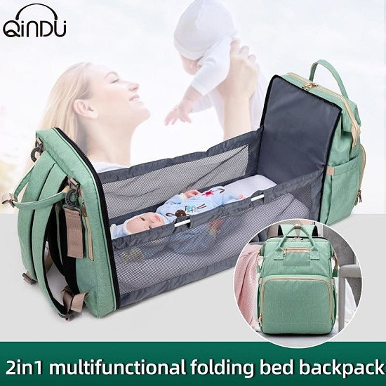 Travel Portable Large Capacity Crib Bags - Waterproof Stylish