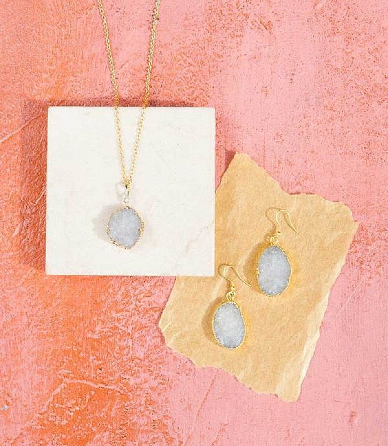 RISHIMA DRUZY DROP NECKLACE - £42.00
