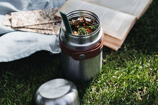 Perfect for National Picnic Month - Black & Blum Food Flask - Olive: £29.95!