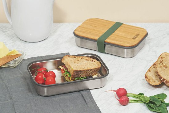 Perfect for National Picnic Month - Black & Blum Stainless Steel Sandwich Box - Olive: £29.95!