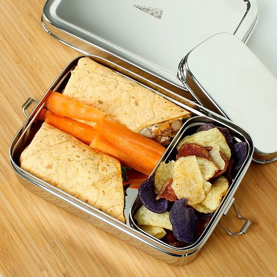 Perfect for National Picnic Month - A Slice Of Green Large Lunch Box with Mini Container £20.00!