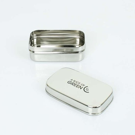 Perfect for National Picnic Month - A Slice of Green Stainless Steel Morri Rectangle Container: £7!