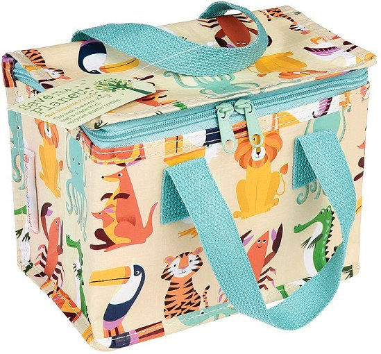 Perfect for National Picnic Month - Recycled Lunch Bag, Colourful Creatures: £4.50!
