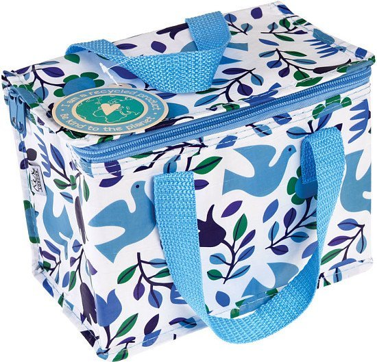 Perfect for National Picnic Month - Recycled Lunch Bag, Folk Doves: £3.95!