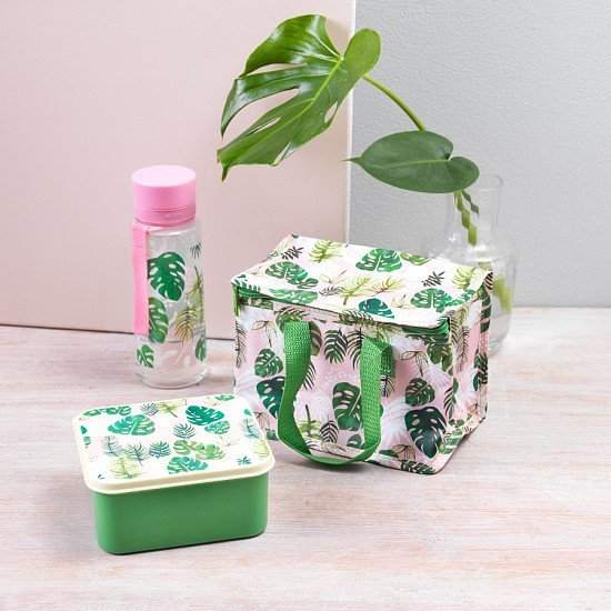 Perfect for National Picnic Month - Recycled Lunch Bag, Tropical Palm: £4.50!