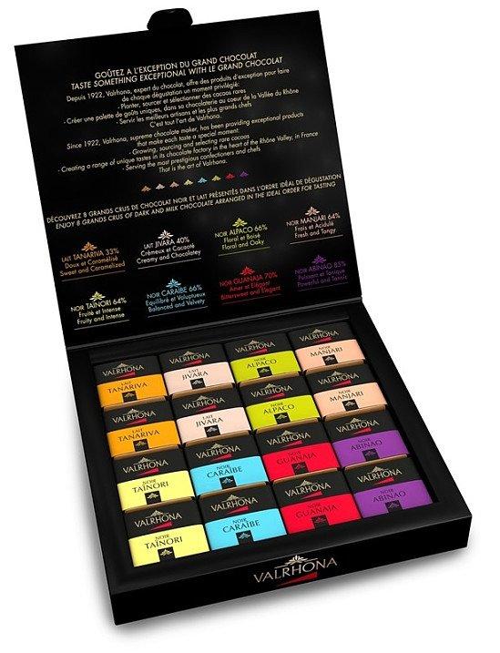 National Chocolate Day - Valrhona Grands Crus Assorted chocolate squares gift box - £18.45