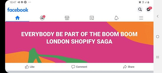 EVERYBODY BE PART OF THE BOOM BOOM LONDON SHOPIFY SAGA