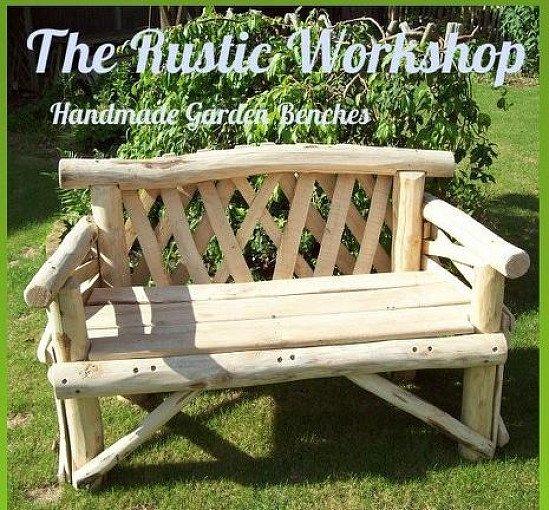 Bekesbourne 2 Seat Hardwood Rustic Garden Bench