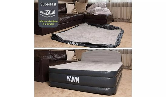 CAMPING ESSENTIALS - Yawn Luxury Raised Air Bed With Headboard - Double: £69.99!