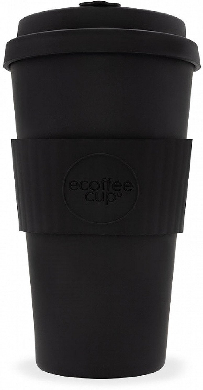 SAVE - ECOFFEE REUSABLE BAMBOO COFFEE CUP - BLACK - 475ML