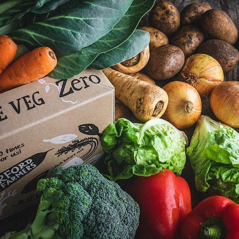 Organic Zero packaging veg box - £15.35!