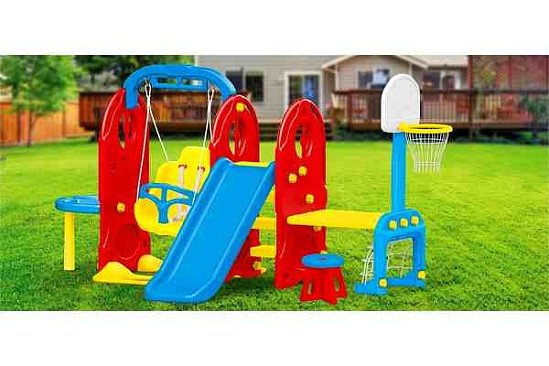 Perfect for the Summer Holidays: Dolu 7-in-1 Playground Frame - £199.99!