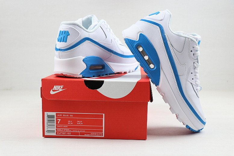 Nike air max Undefeated White, Blue Fury