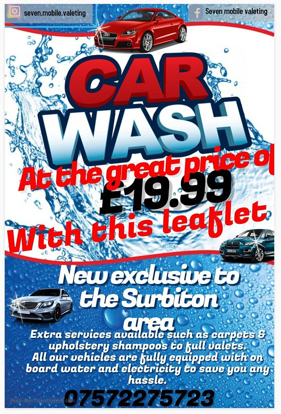 MOBILE CAR VALET,  let us take the stress out of getting your car washed