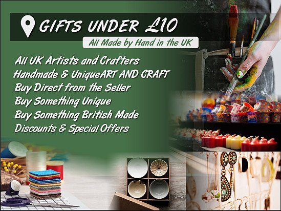 Local Art and Craft Gifts - £10 and Under!