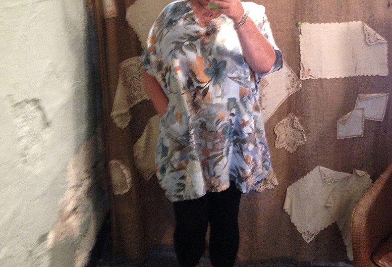 Flower tunic plus size
