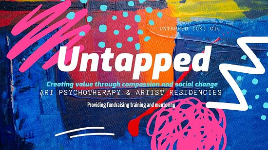Untapped offer art psychotherapy, artist residencies, creative and fundraising mentoring