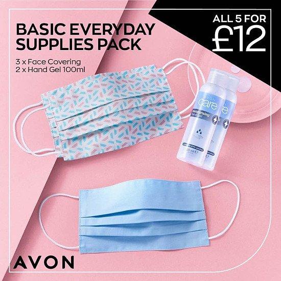 3 x 100% cotton reusable face masks for just £9