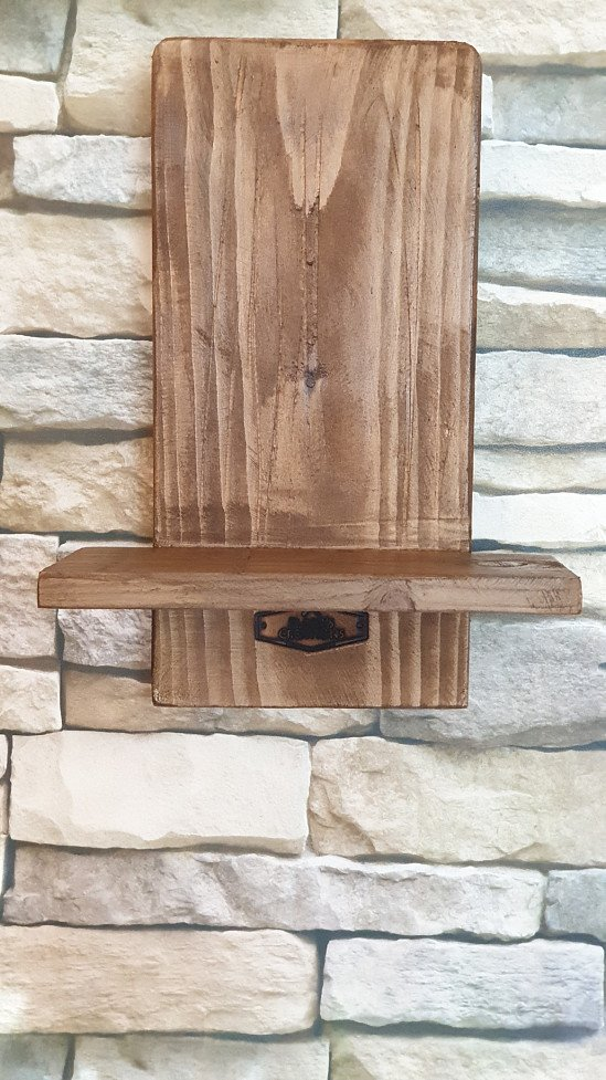 Pair Rustic Candle Holder or Wall Sconces,
