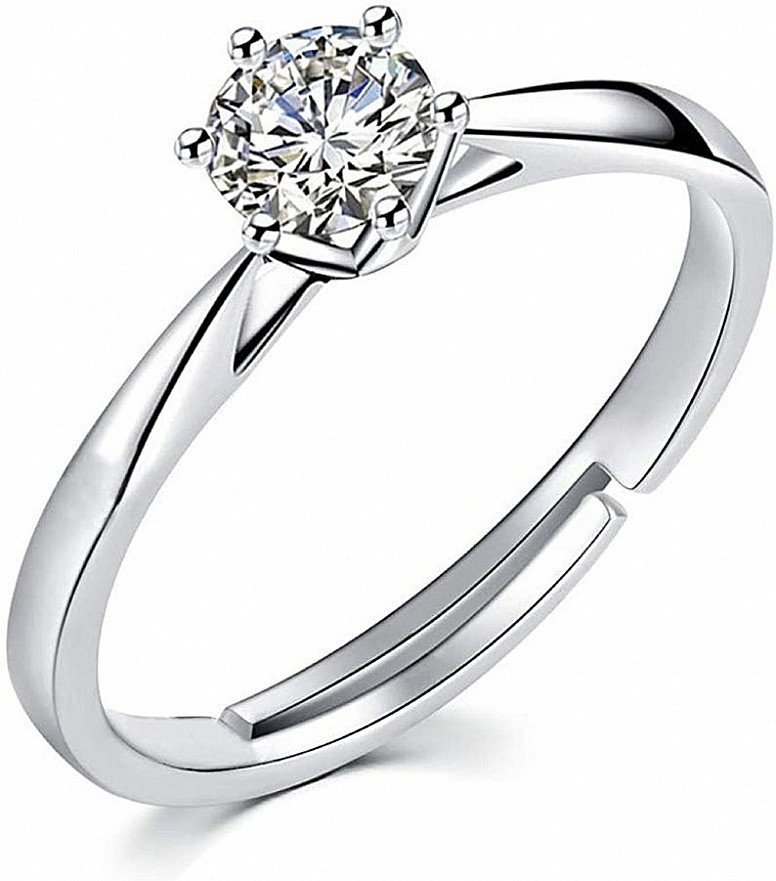 Engagement Ring for Her 1.0ct Cubic Zirconia Wedding Solitaire Ring