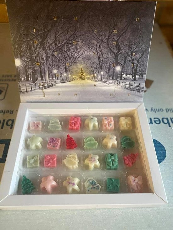 Wax Christmas advent calenders