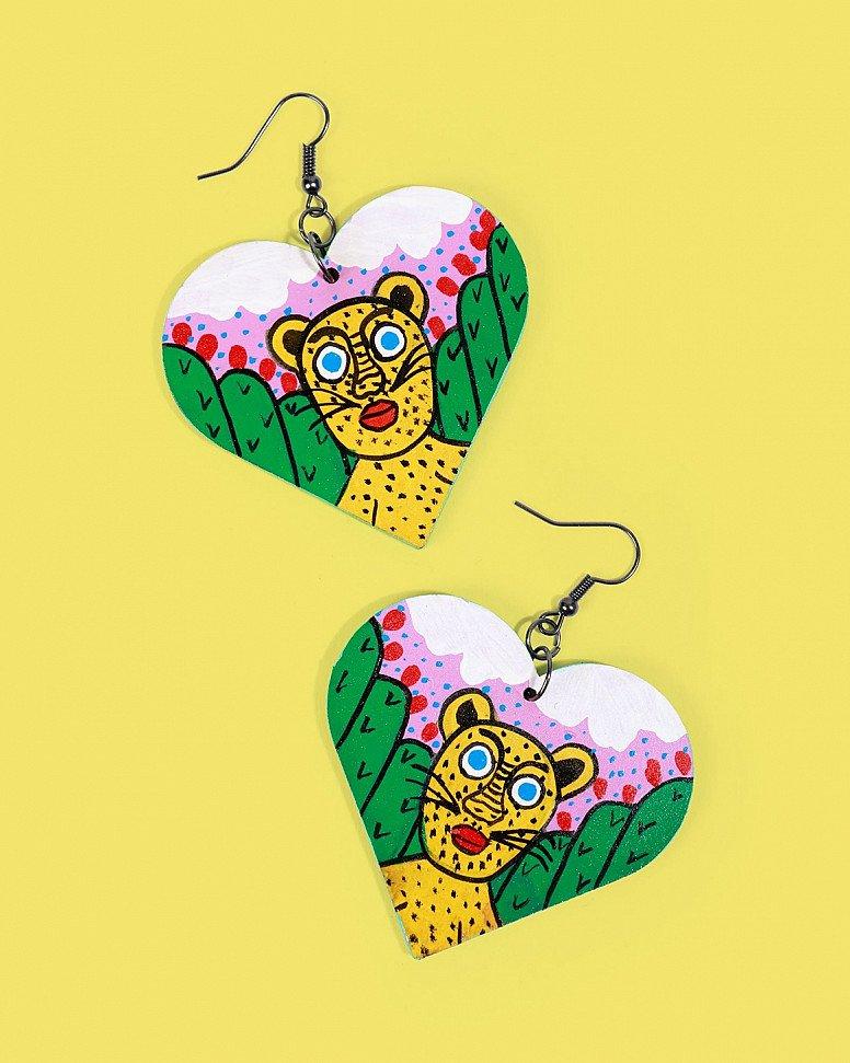 NEW IN - Familia Lorenzo Hand-Painted Earrings, Jaguar £34.00!