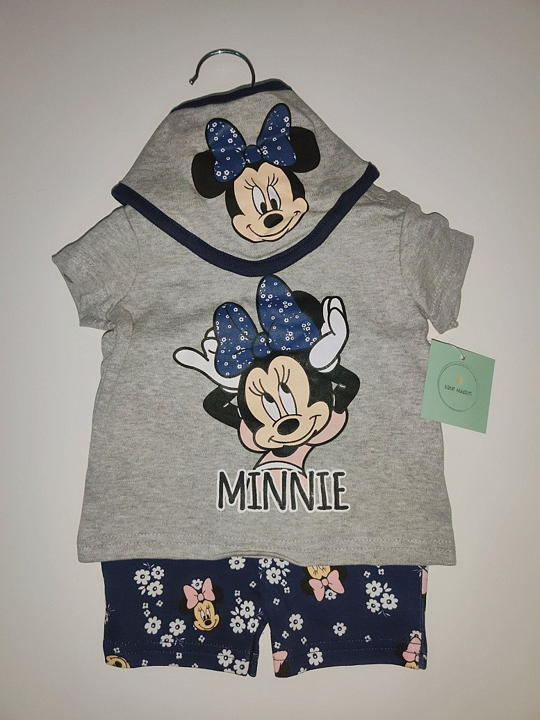 Baby Disney Minnie Mouse T-Shirt, Short and Bib 6-9 Months