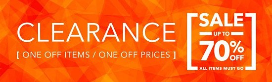 Clearance Sale - up to 70% off - All Items Must Go.!!