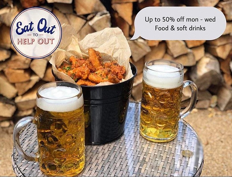 As we are part of the Eat Out scheme we are offering 50% off food and soft drinks!