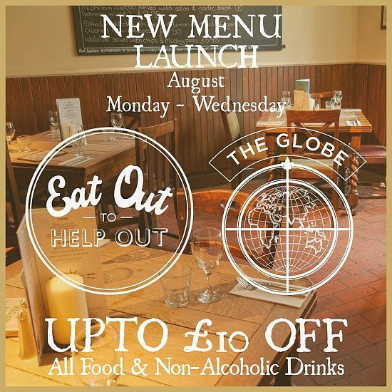 New menu launch - Join us for the Eat Out To Help Out Scheme!